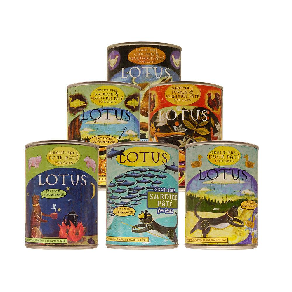LOTUS樂特斯 慢燉無穀主食罐全系列 全貓配方 354G-12件組