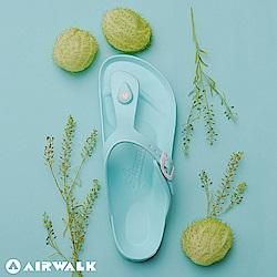 【AIRWALK】百搭羅馬夾腳拖鞋(薄荷綠)