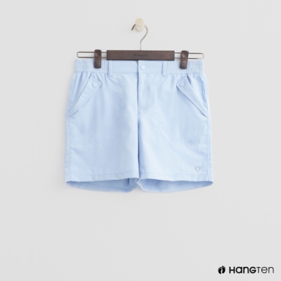 Hang Ten - 女裝 - ThermoContro-素面口袋機能短褲-淺藍