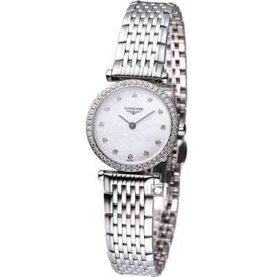 LONGINES La Grande 嘉嵐超薄石英鑽錶(L42410806)