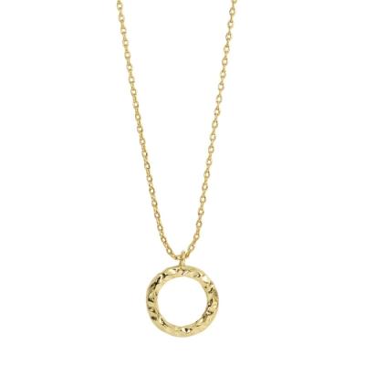 Orelia英國品牌 圓環金錘造型金色項鍊