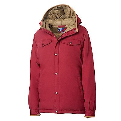 Wildland 女鵝絨防潑水極暖外套紅