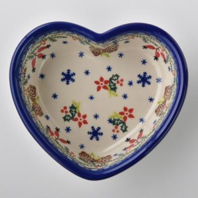 波蘭陶 初春遊樂園系列 愛心造型烤盤 波蘭手工製
