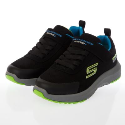 SKECHERS 男童系列DYNAMIC TREAD 防水運動鞋 - 403661LBLK