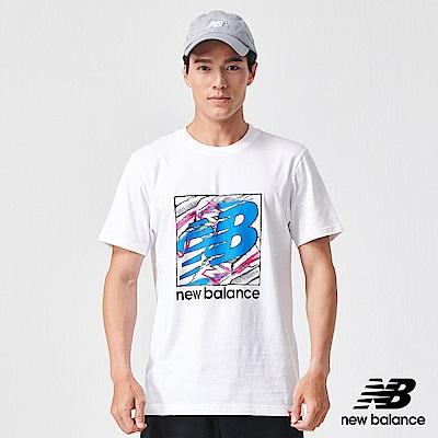 New Balance 短袖T恤_AMT91550WT_男性_白色