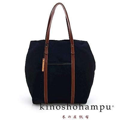 kinoshohampu NO.9手工帆布包 藍色X咖啡