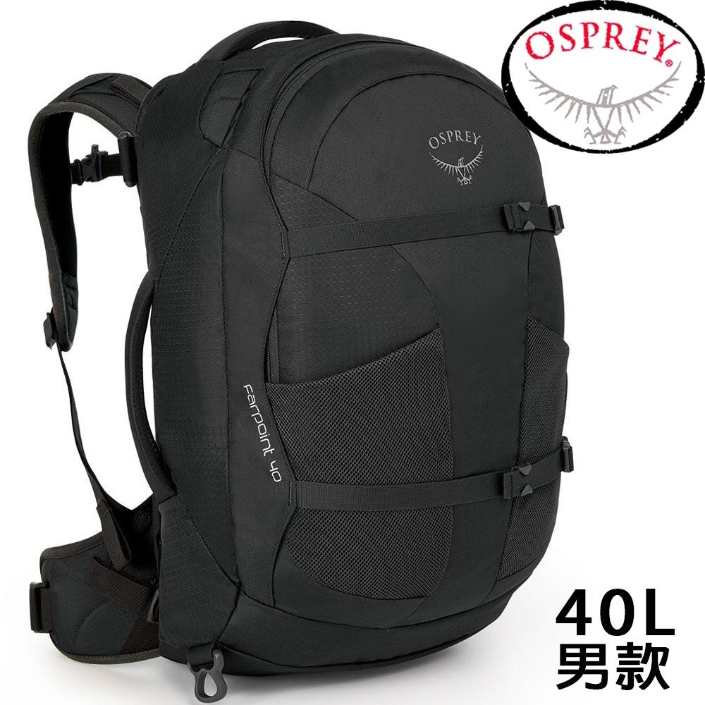 Osprey Farpoint 40L 火山灰 自助旅行背包/Travel Pack Carry/登機包/旅行背包/雙肩背包/肩帶可收納