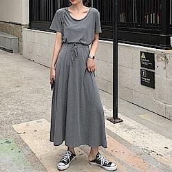韓國空運 上衣+長裙兩件式套裝-2色-TMH