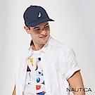 Nautica簡約品牌LOGO休閒帽-藍色