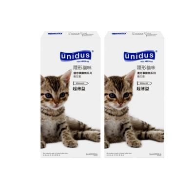 unidus優您事 動物系列保險套-隱形貓咪-超薄型 12入x2盒