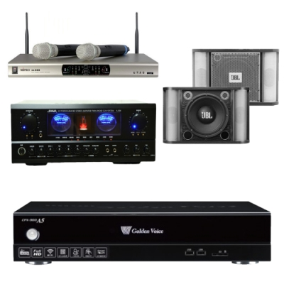 金嗓 A5+SUGAR A-500+JBL RM-8+MI-888(伴唱機 4TB+卡拉OK套組)
