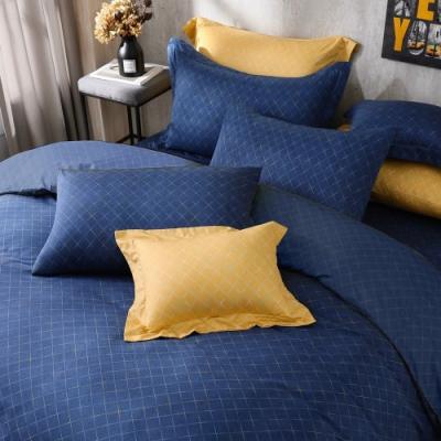 澳洲Simple Living 雙人天絲福爾摩沙兩用被床包組-台灣製(北歐風尚-藍)
