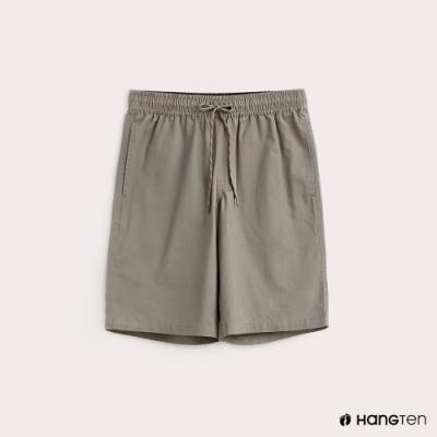 Hang Ten-男裝-抽繩綁帶百慕達褲-綠