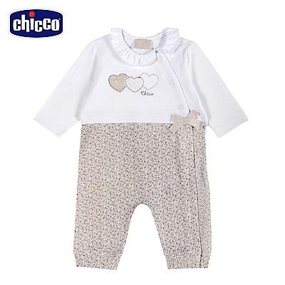 chicco-可可熊-碎花前側開長袖兔裝 (無腳套)