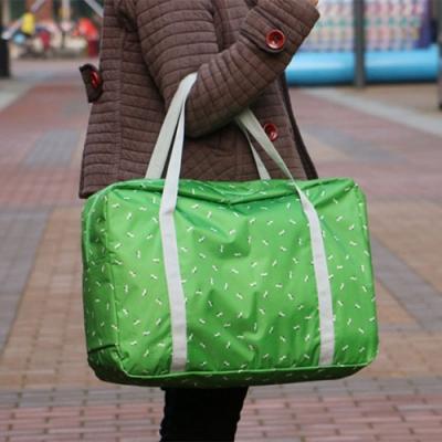 E.City_日式加厚可折疊花紋防潑水拉桿收納萬用袋