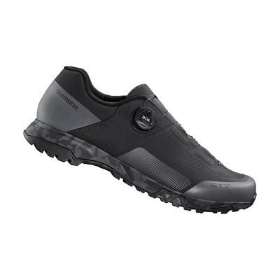 【SHIMANO】ET700 男款休閒平底車鞋 加大旅行鞋楦 黑色