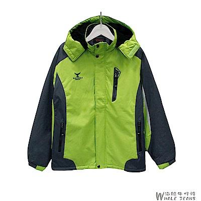 WHALE JEANS 男款精選秋冬連帽多口袋刷毛多尺寸機能外套-2色