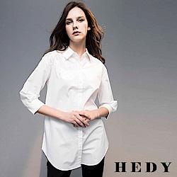 Hedy赫蒂  亮片肩飾造型七分袖長版襯衫(共兩色)