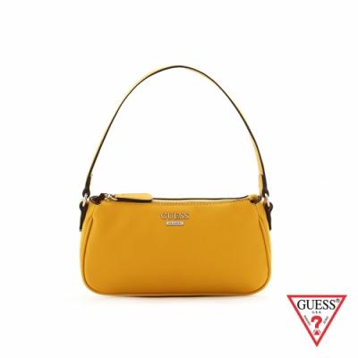 GUESS-女包-時尚純色素面肩背包-黃 原價2890