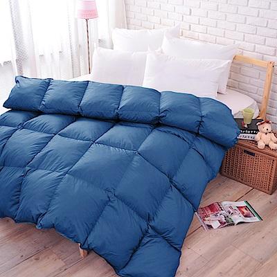 亞曼達Amanda 100%純天然雙人羽絨被--中藍 (1被2枕組合)