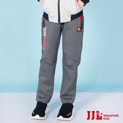 JJLKIDS 韓版雙口袋拼接運動休閒長褲(深麻灰)