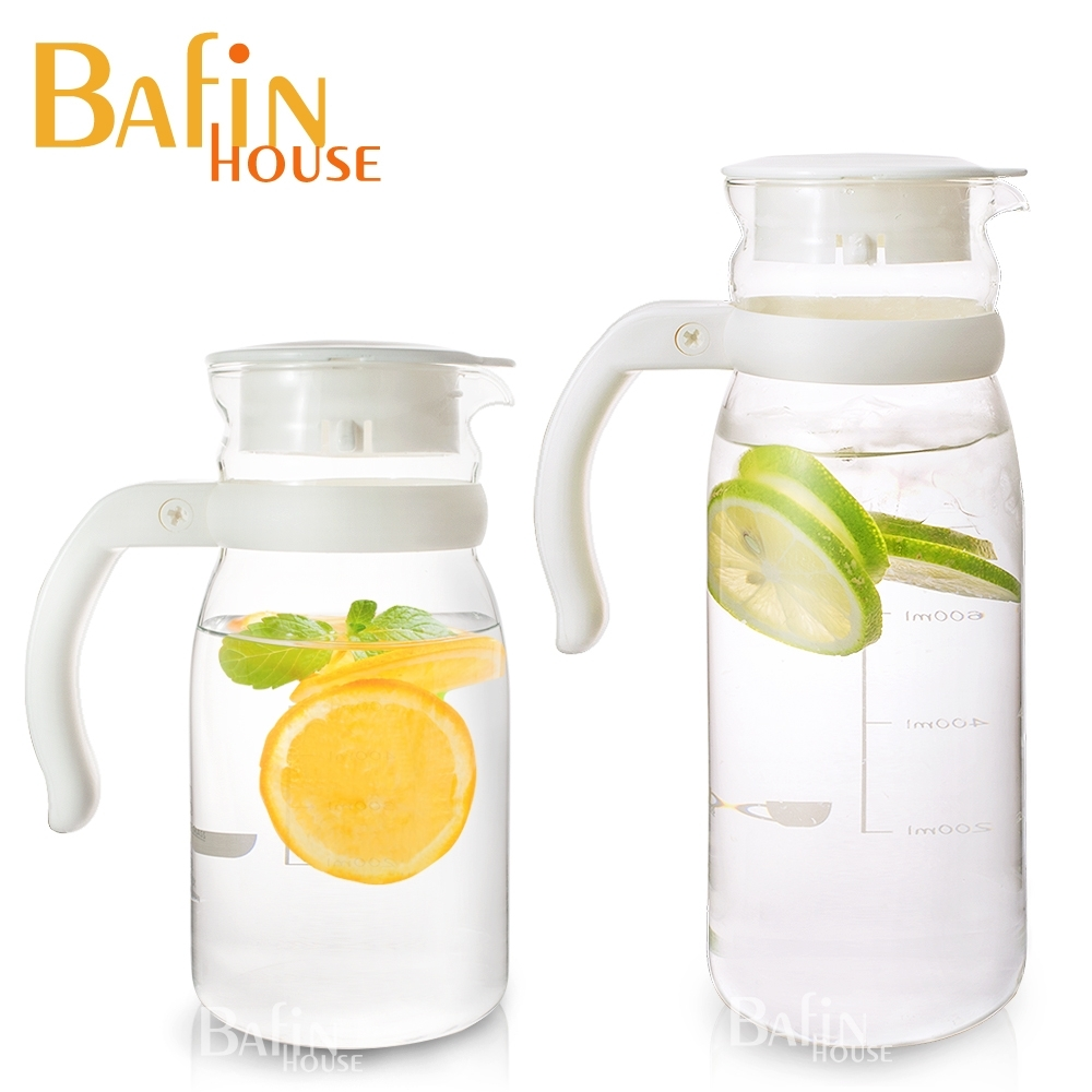(2入組)Bafin House 台玻耐熱玻璃冷水壺超值1215+805ml