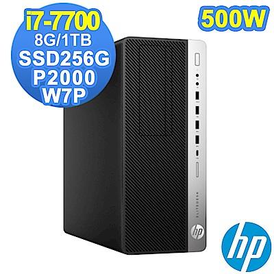 HP 800G3 MT i7-7700/8G/1TB+SSD256G/P2000/W7P