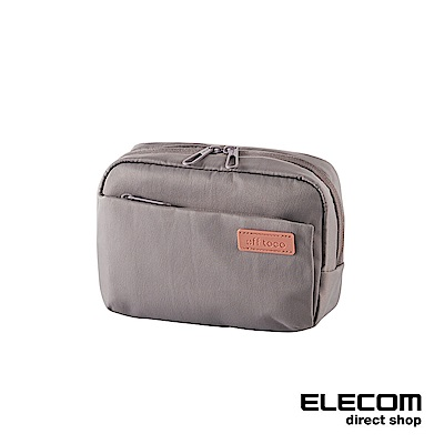 ELECOM 帆布多功能側背包OF03-玫瑰灰