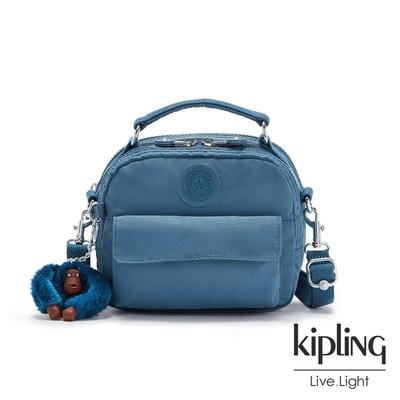 Kipling 優雅天穹藍拉鍊兩用側背後背包-PUCK
