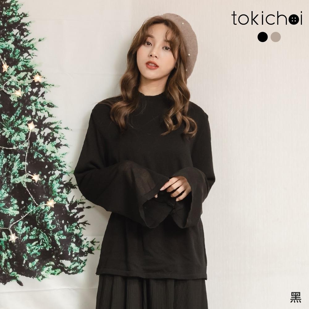東京著衣 俏皮性感後背鏤空綁帶針織上衣