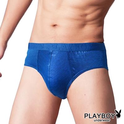 PLAYBOY 速乾透氣抗皺耐磨陽離子立體三角褲-淺藍