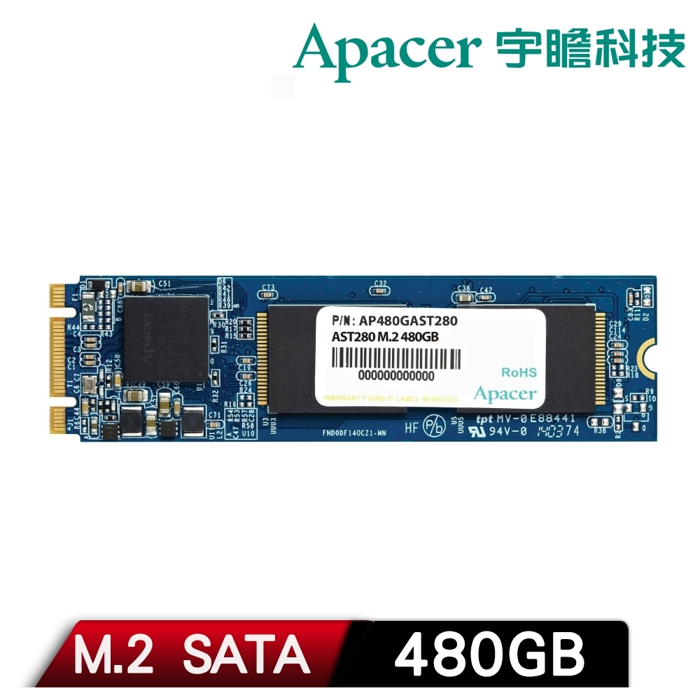 Apacer 宇瞻 AST280 480GB M.2 SATAIII SSD固態硬碟 product image 1