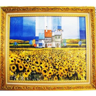柔美系列 畫作--太陽花【幸福向日葵】50x40cm