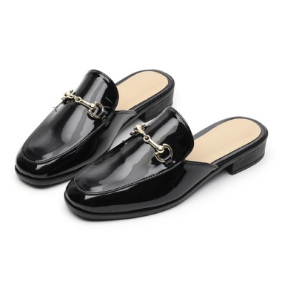 JACK-JILL-馬銜鍊穆勒低跟拖鞋-3色