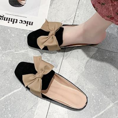 KEITH-WILL時尚鞋館 夏氛蝴蝶結穆勒鞋-黑