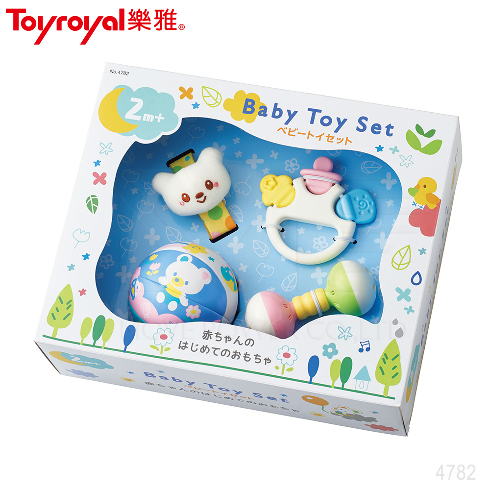 【任選】日本《樂雅 Toyroyal》初生玩具禮盒(2m以上)