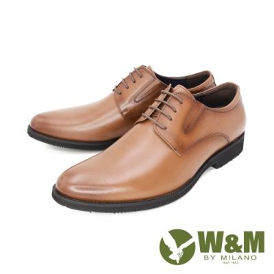 W&M(男) 真皮素面正裝皮鞋 男鞋 - 咖(另有黑)