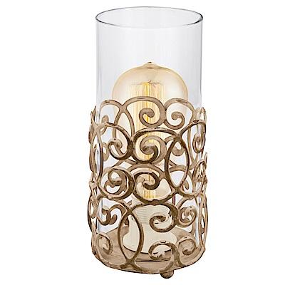 EGLO歐風燈飾 經典金造型玻璃檯燈/床頭燈(不含燈泡)