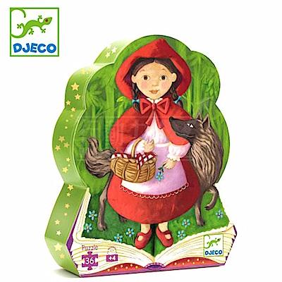 【任選】法國《DJECO-智荷》拼圖屋-小紅帽(36片)