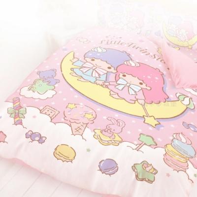 享夢城堡 單人薄被套4.5x6.5-雙星仙子Little Twin Stars 月光童話-粉