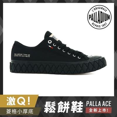 PALLADIUM PALLA ACE CVS格紋厚底帆布鞋-中性-黑