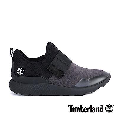 Timberland 男款黑色網布綁帶休閒鞋