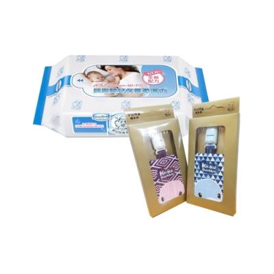 貝恩Baan NEW嬰兒保養柔濕巾20抽60入/箱+酷咕鴨KU.KU. 平安健康護身袋(顏色隨機)