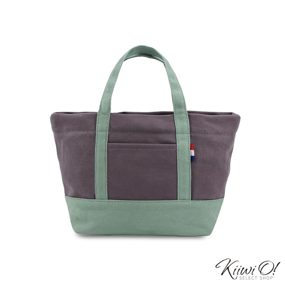 Kiiwi O! 輕便隨行系列帆布托特包 ANNE 灰綠/霧紫