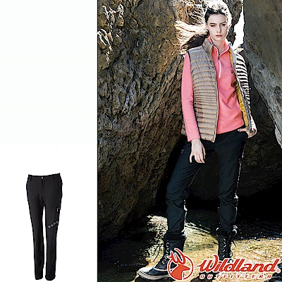 Wildland 荒野 0A52393-93深灰色 女RE超彈性時尚保暖褲