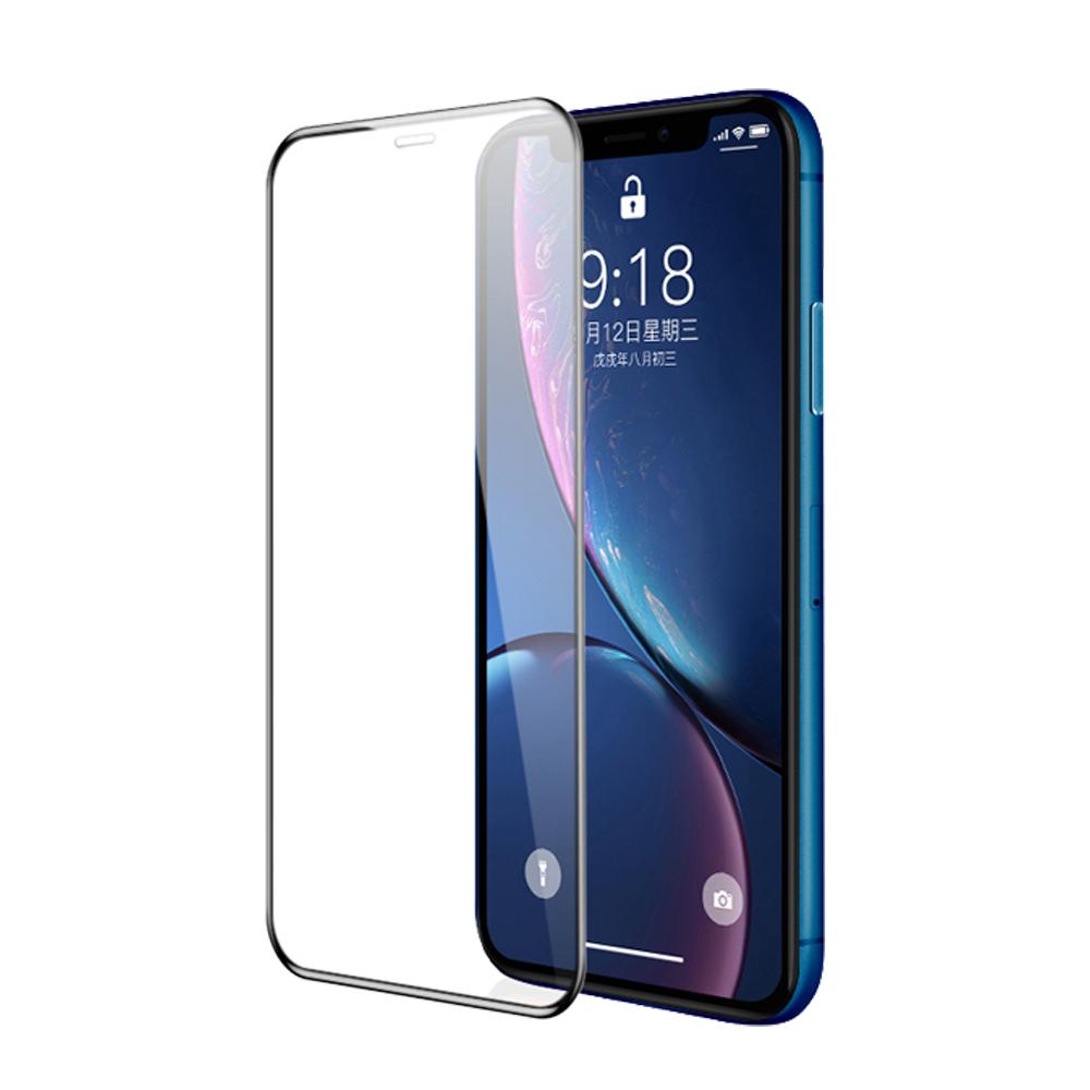 iPhone XR 鋼化膜 6.1吋 5D冷雕 防塵滿版 螢幕保護貼 product image 1