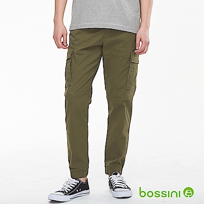 bossini男裝-輕鬆束口長褲02軍綠