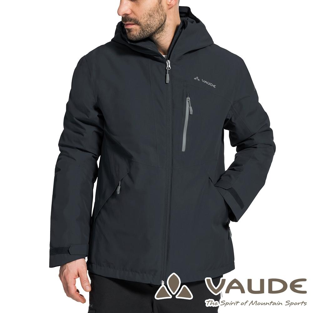【VAUDE德國】男款環保防水防風透氣科技保溫鋪棉保暖風衣外套VA-41563深灰