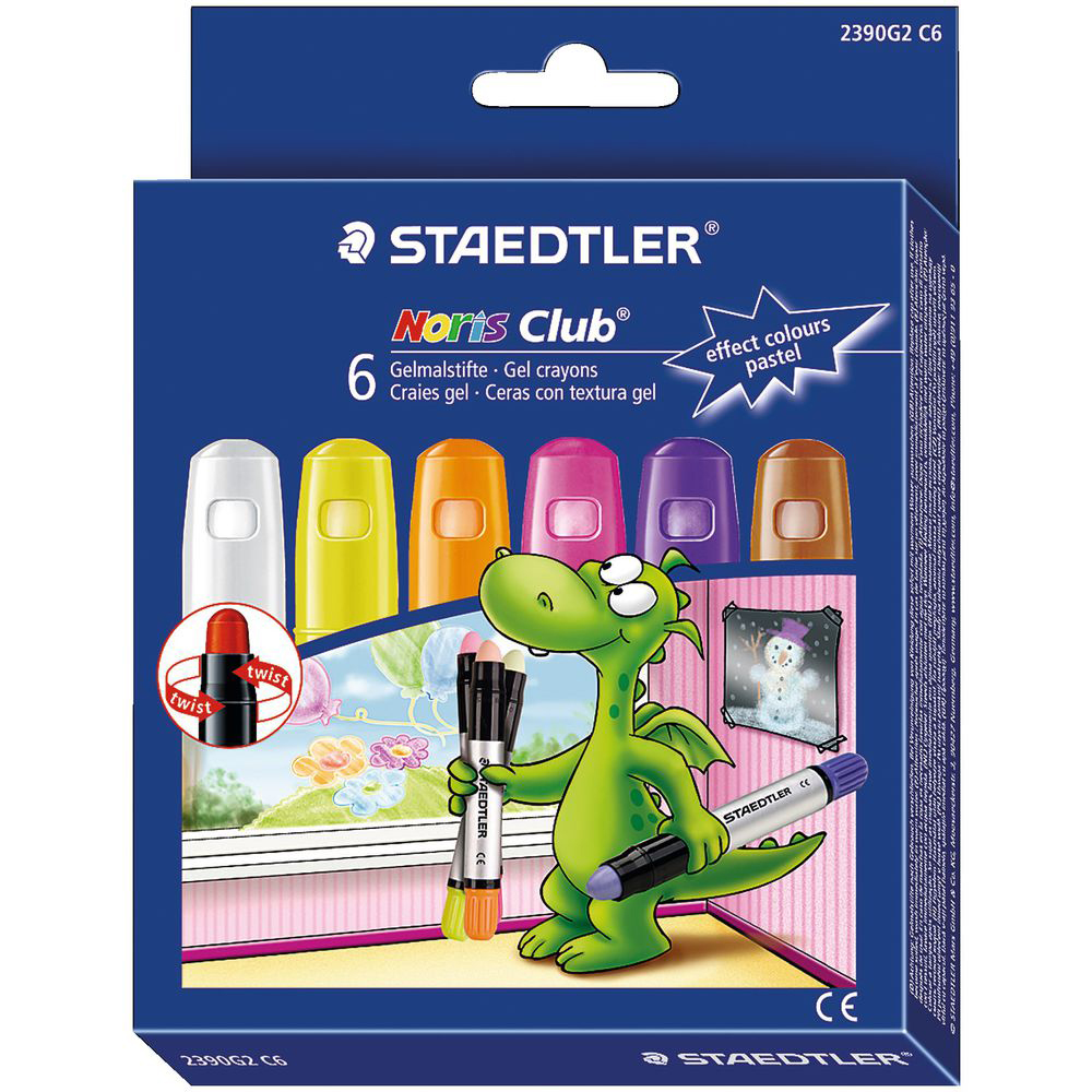 JAKO-O 德國野酷 德國STAEDTLER 玻璃彩繪筆–粉彩色系6色