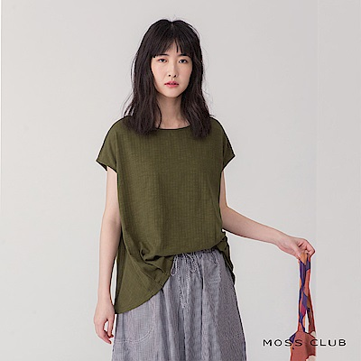 【MOSS CLUB】日系簡約風造型-上衣(共二色)